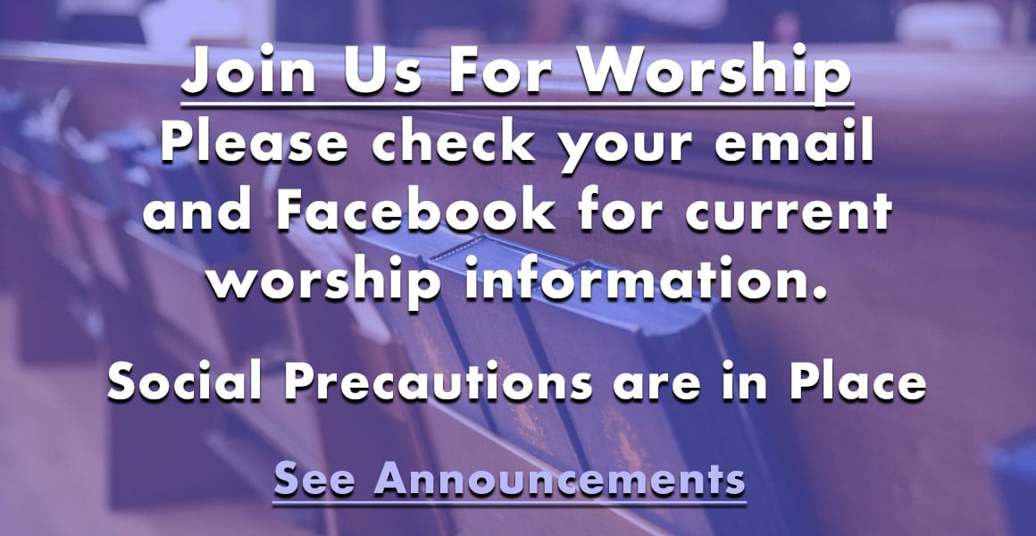 In Person Worship Service Resumes
